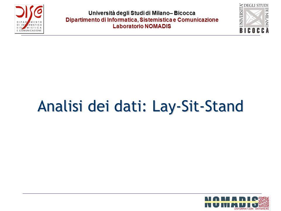 Università degli Studi di Milano– Bicocca Dipartimento di Informatica, Sistemistica e Comunicazione Laboratorio NOMADIS Analisi dei dati: Lay-Sit-Stan