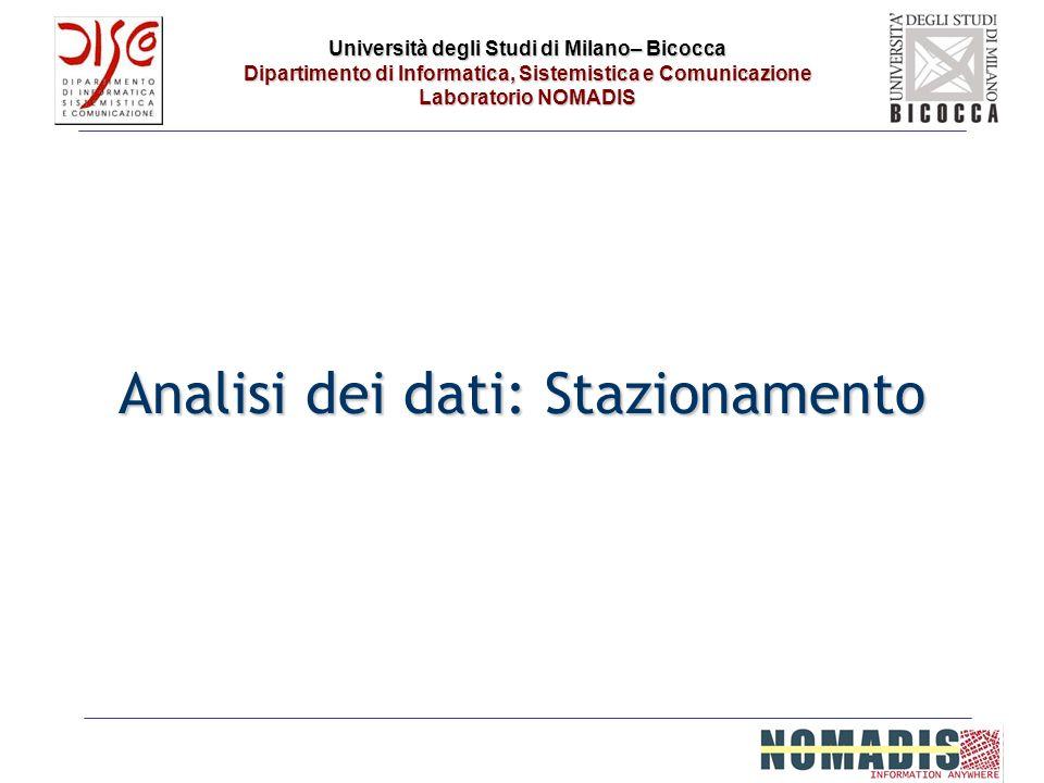 Università degli Studi di Milano– Bicocca Dipartimento di Informatica, Sistemistica e Comunicazione Laboratorio NOMADIS Analisi dei dati: Stazionament