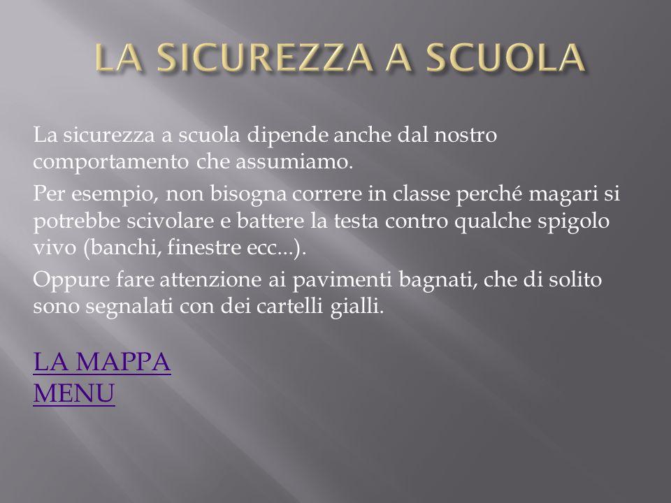 LA SICUREZZA A SCUOLA 1.IL NOSTRO. IL NOSTRO COMPORTAMEN- TO 2.