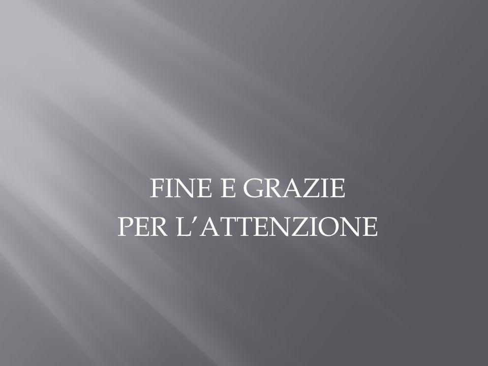 FINE E GRAZIE PER LATTENZIONE