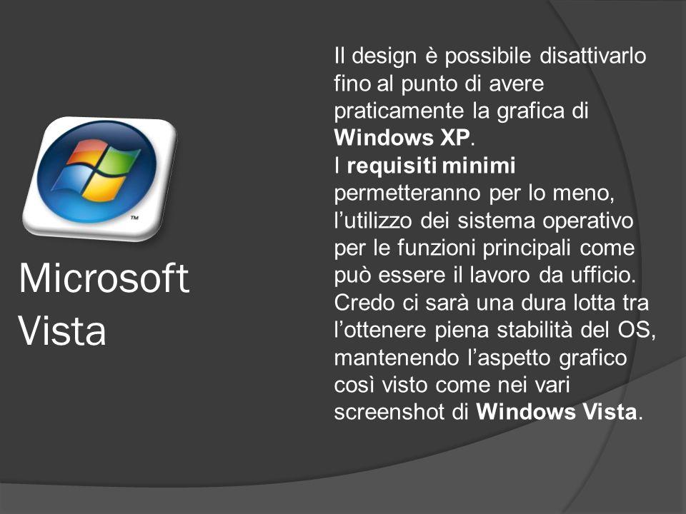 Il design è possibile disattivarlo fino al punto di avere praticamente la grafica di Windows XP.