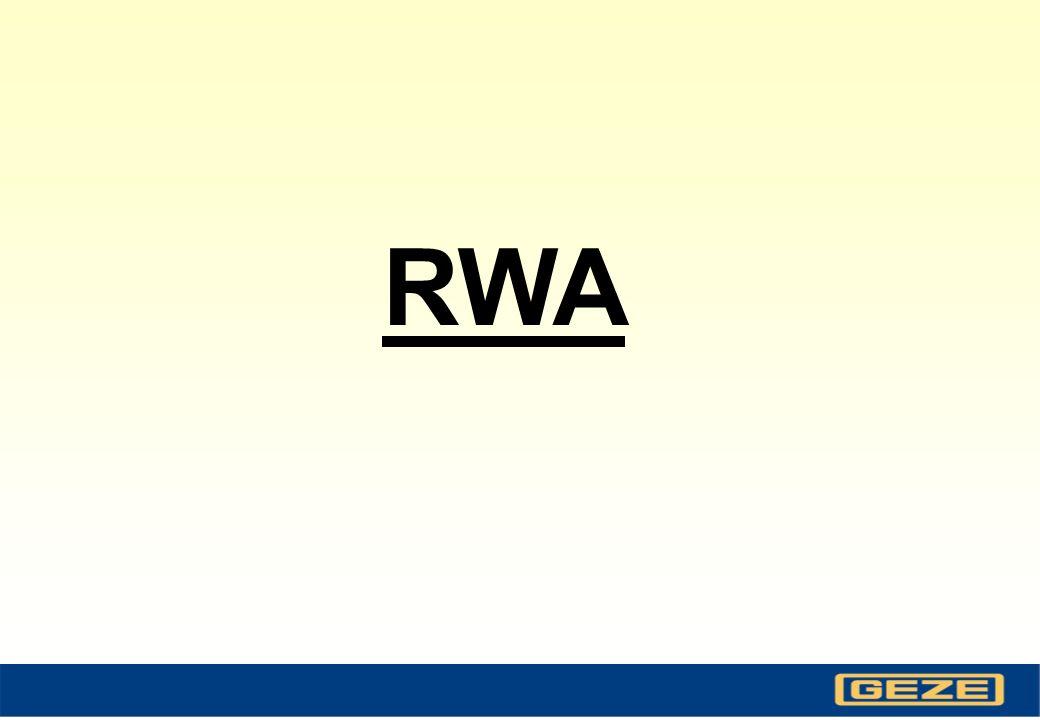 Corso RWA - Diapositiva 20 rispetto alla soluzione con solo pistone ad azionamento diretto: Vantaggi dei sistemi RWA 100E, 110E, 105E - ampiezze dapertura molto superiori - pistone disposto parallelamente alla finestra - dispositivo di blocco meccanico dellanta in chiusura