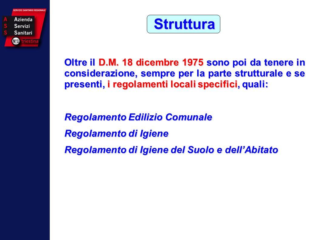OMS Carta di Ottawa 1986 Oltre il D.M. 18 dicembre 1975 sono poi da tenere in considerazione, sempre per la parte strutturale e se presenti, i regolam