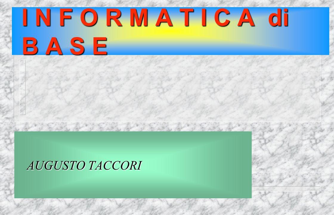 I Comandi Nelle Finestre File Modifica Visualizza Strumenti ? Barra del titolo