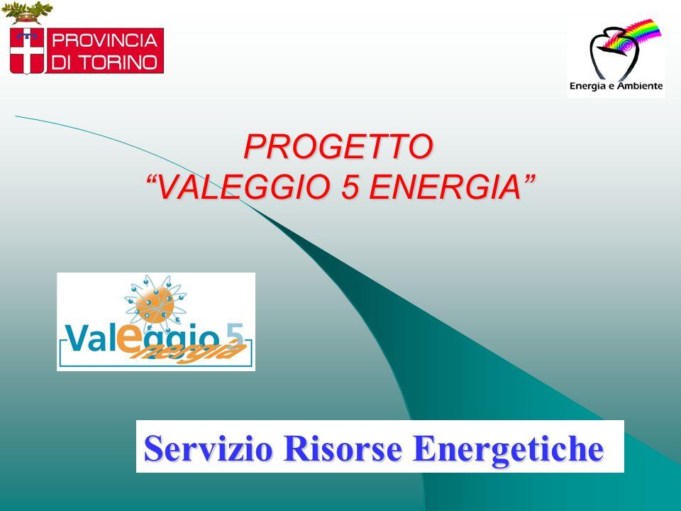 PROGETTO VALEGGIO 5 ENERGIA Servizio Risorse Energetiche