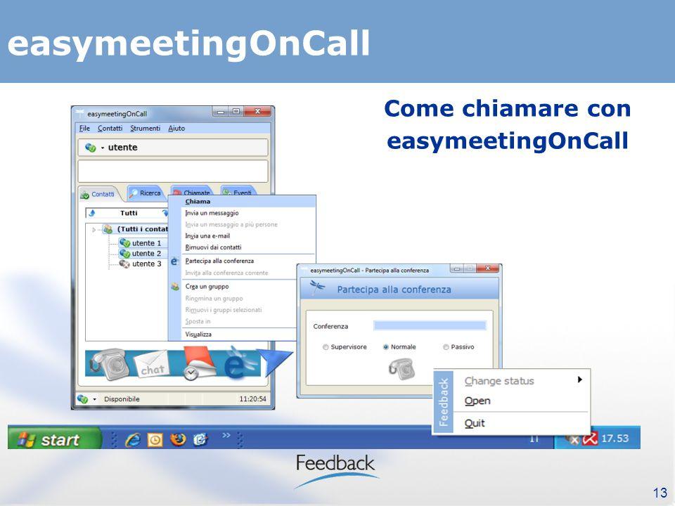 13 easymeetingOnCall Come chiamare con easymeetingOnCall