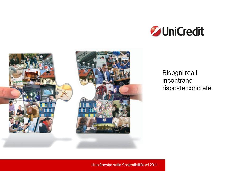 UniCredit - Una finestra sulla Sostenibilità nel 2011 Bisogni reali incontrano risposte concrete Una finestra sulla Sostenibilità nel 2011