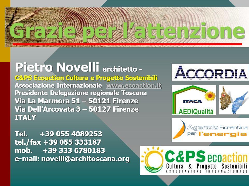 Pietro Novelli architetto - C&PS Ecoaction Cultura e Progetto Sostenibili Associazione Internazionale www.ecoaction.it www.ecoaction.it Presidente Del