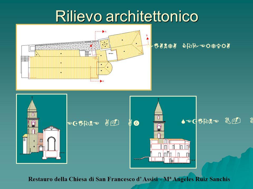 Rilievo architettonico Restauro della Chiesa di San Francesco d Assisi - Mª Angeles Ruiz Sanchis PIANTA COPERTURA SEZIONE A- A SEZIONE B- B