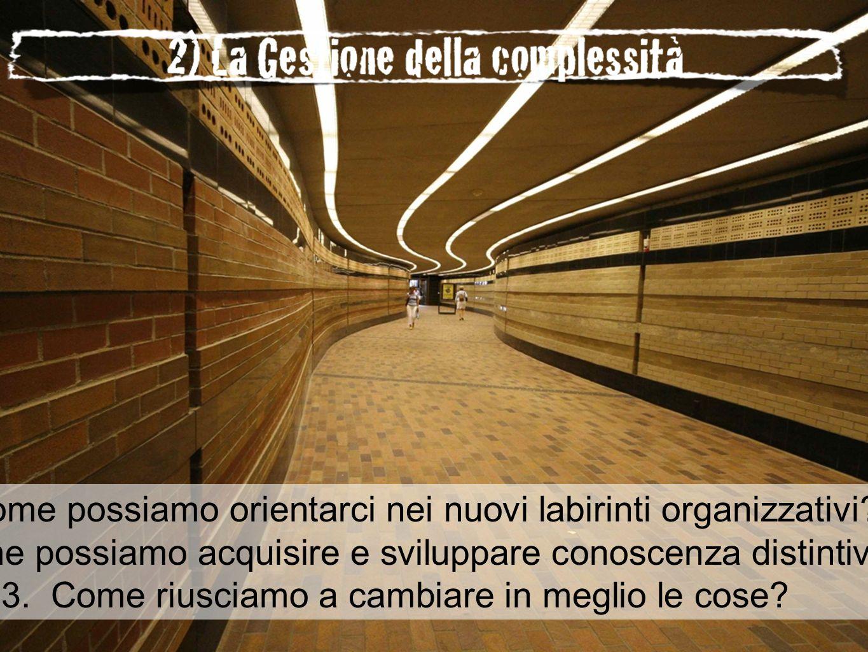 1.Come possiamo orientarci nei nuovi labirinti organizzativi.