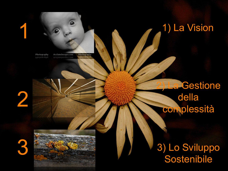 1 1) La Vision 2 2) La Gestione della complessità 3) Lo Sviluppo Sostenibile 3