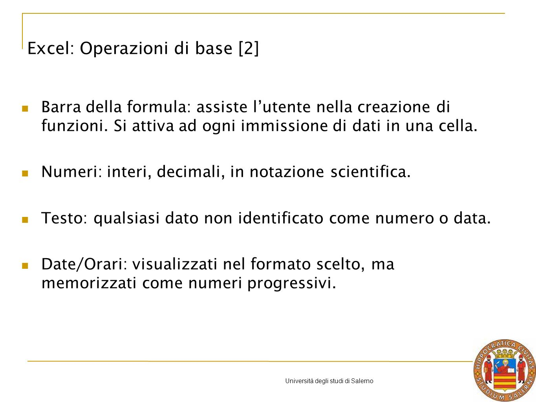 Università degli studi di Salerno Chiariamo con un esempio.