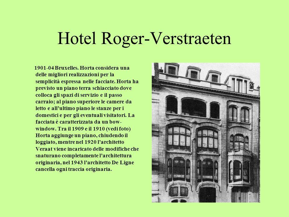 Hotel Aubecq 1899-02 Bruxelles.Questa realizzazione può essere considerata un punto darrivo della ricerca progettuale cominciata con casa Tassel.