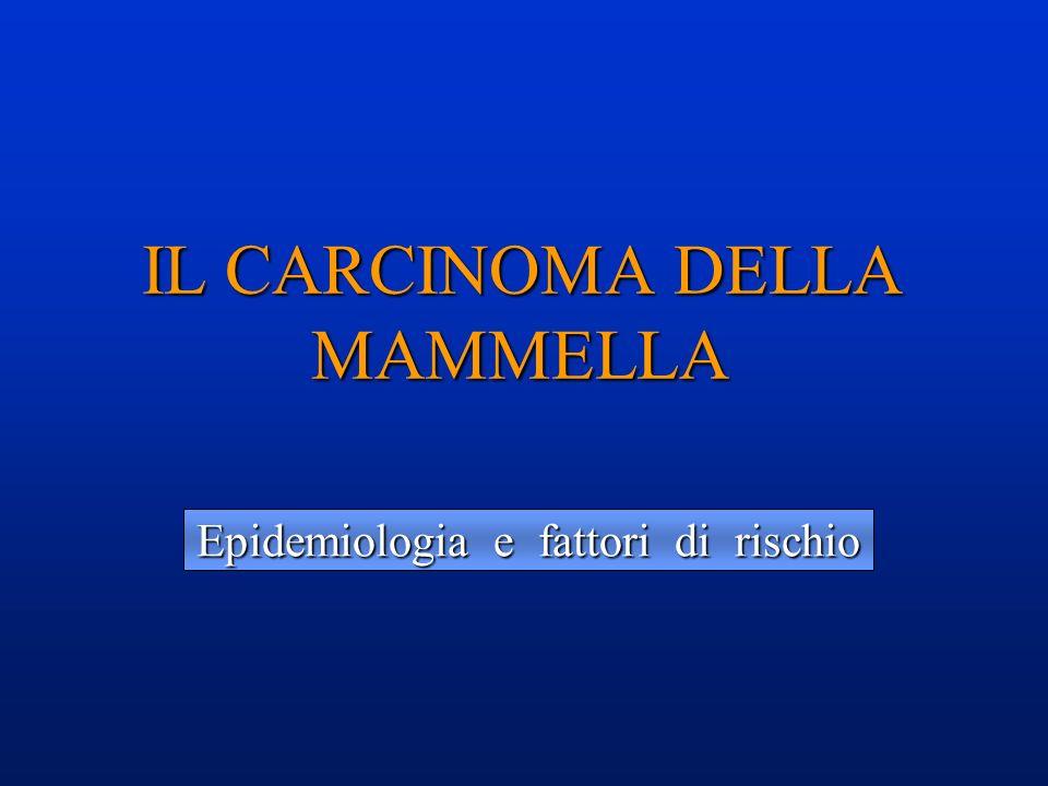 Epidemiologia e fattori di rischio IL CARCINOMA DELLA MAMMELLA