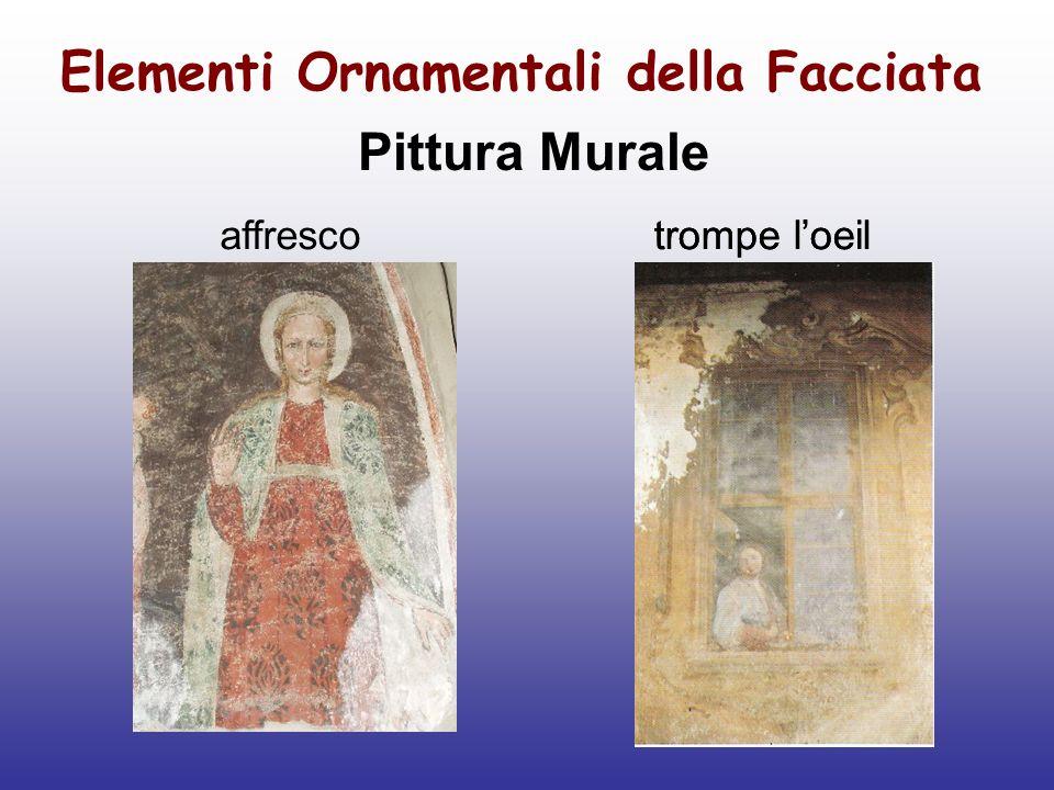 Elementi Ornamentali della Facciata Pittura Murale affrescotrompe loeil