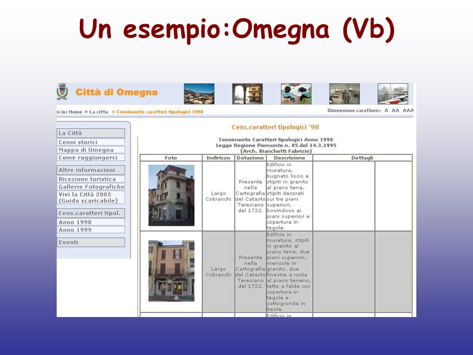 Ricerca terminologica Fonti autorevoli, quando possibile: soprattutto università nel caso del tedesco soprattutto siti dei Comuni Italiani o del Ministero dei beni culturali nel caso dellItaliano.