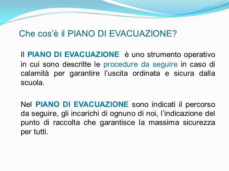 Se tali calamità dovessero verificarsi mentre sei a scuola, le regole da seguire sono quelle dettate dal PIANO DI EVACUAZIONE