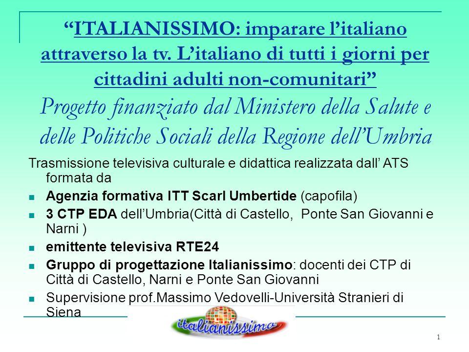 1 ITALIANISSIMO: imparare litaliano attraverso la tv.