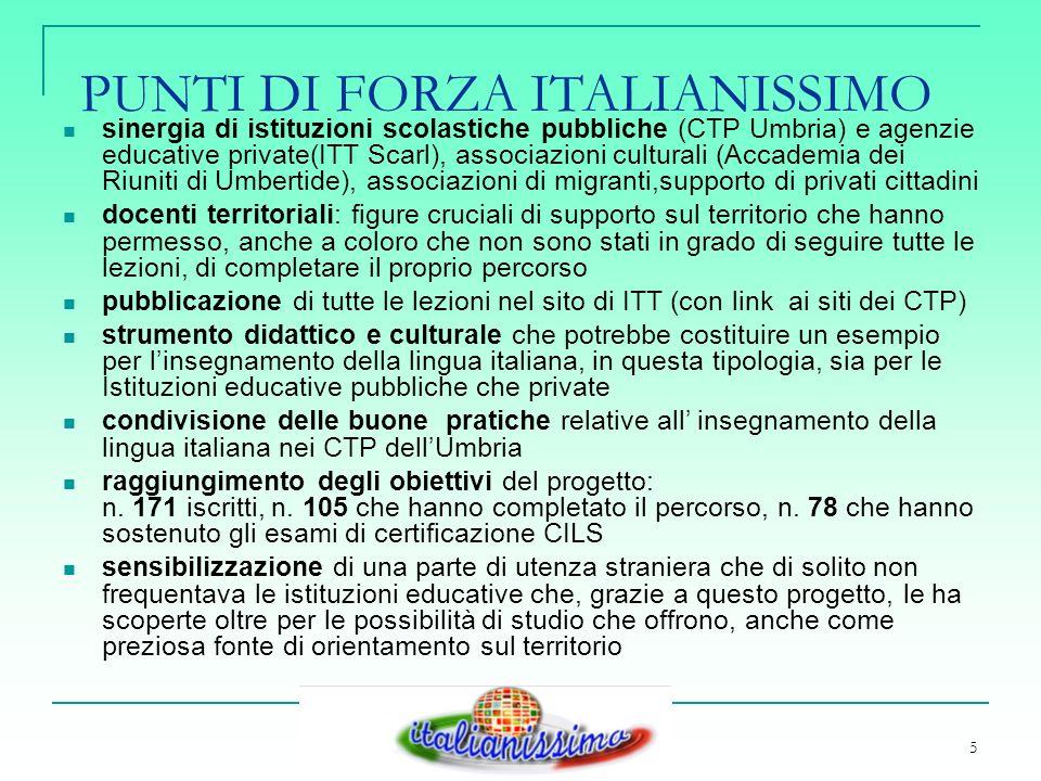 6 PUNTI DI DEBOLEZZA ITALIANISSIMO FATTORE TEMPO: PRINCIPALE NEMICO PERCHE.