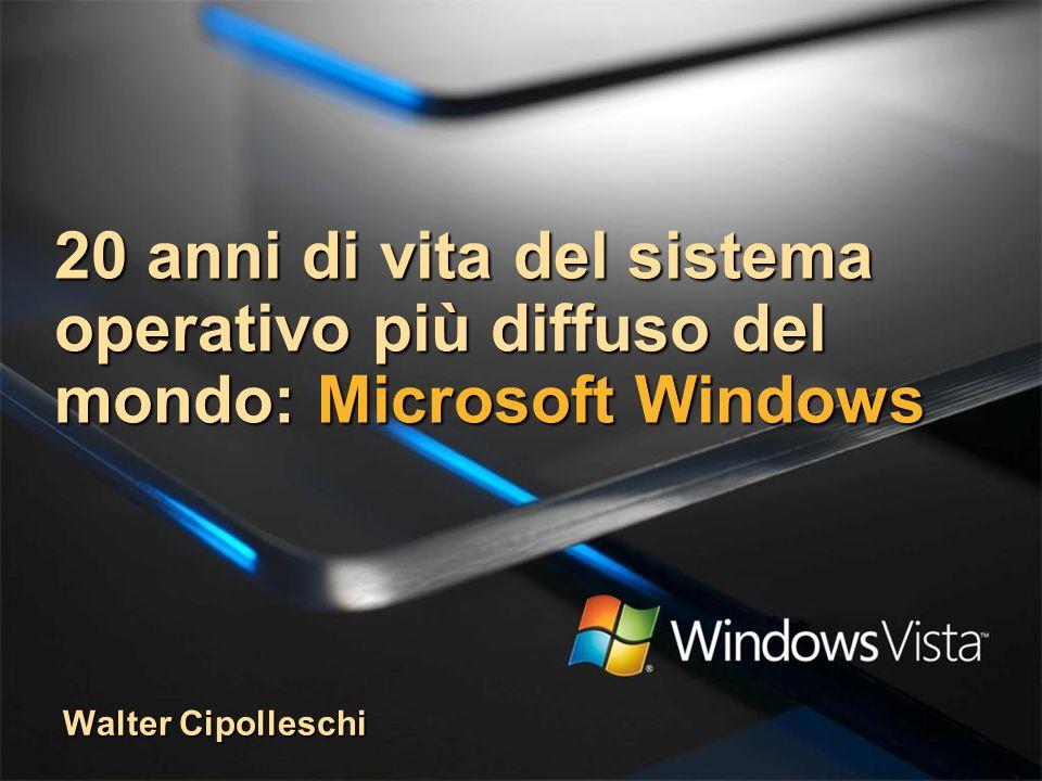 20 anni di vita del sistema operativo più diffuso del mondo: Microsoft Windows Walter Cipolleschi