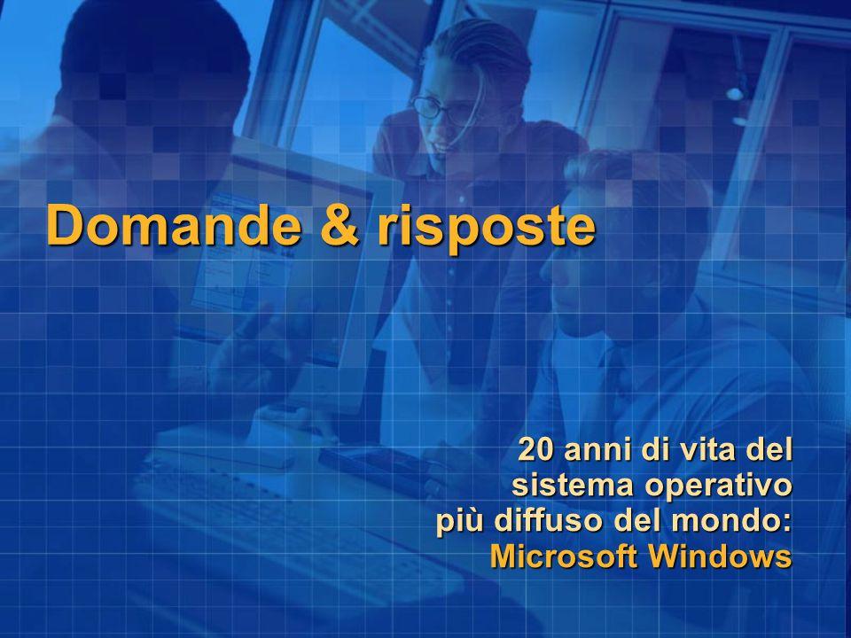 Domande & risposte 20 anni di vita del sistema operativo più diffuso del mondo: Microsoft Windows