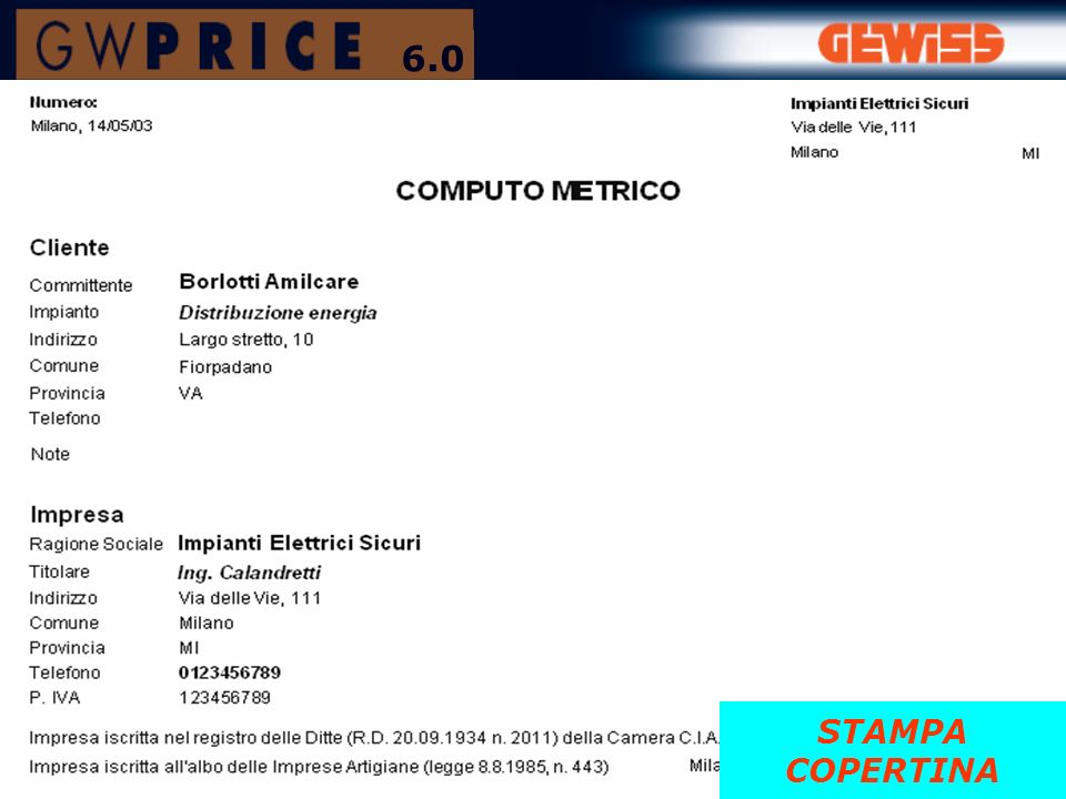 STAMPA COPERTINA 6.0