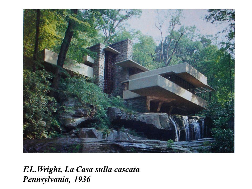 F.L.Wright, La Casa sulla cascata Pennsylvania, 1936