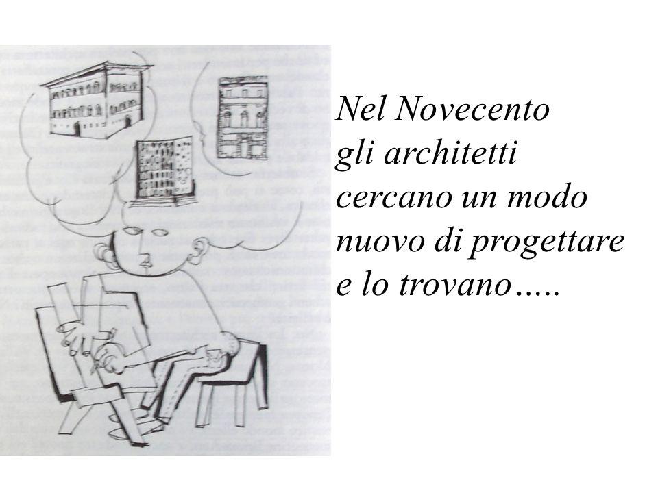 Nel Novecento gli architetti cercano un modo nuovo di progettare e lo trovano…..