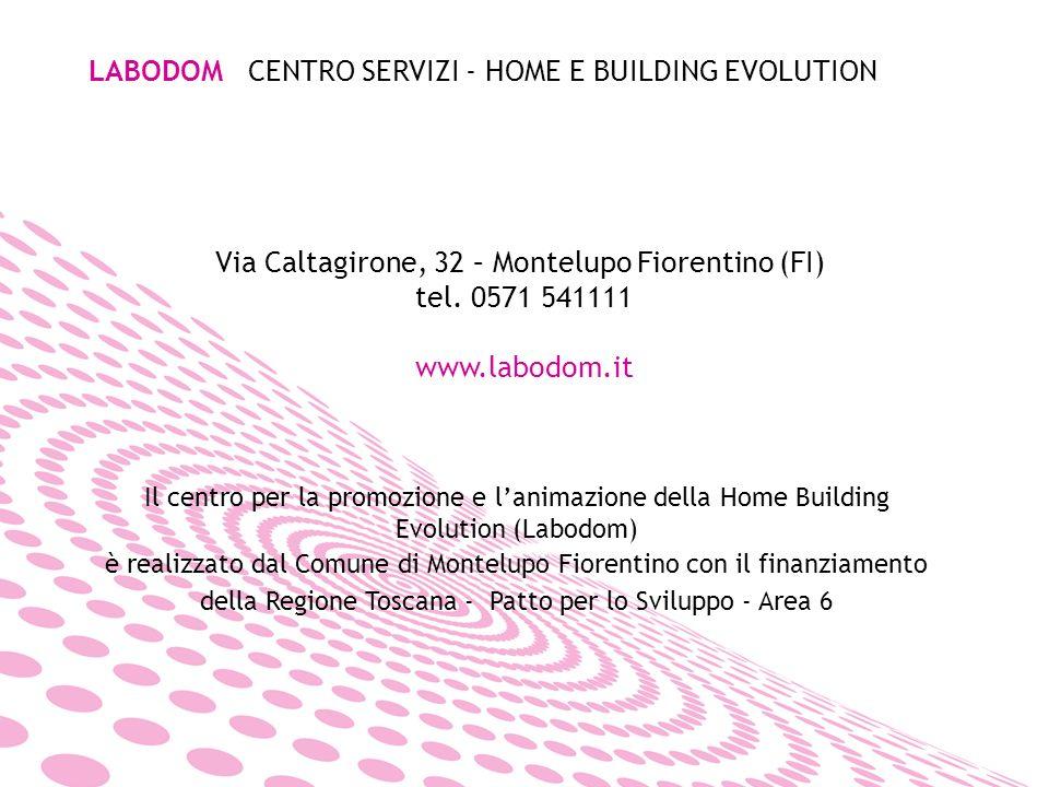 LABODOM CENTRO SERVIZI - HOME E BUILDING EVOLUTION Via Caltagirone, 32 – Montelupo Fiorentino (FI) tel.