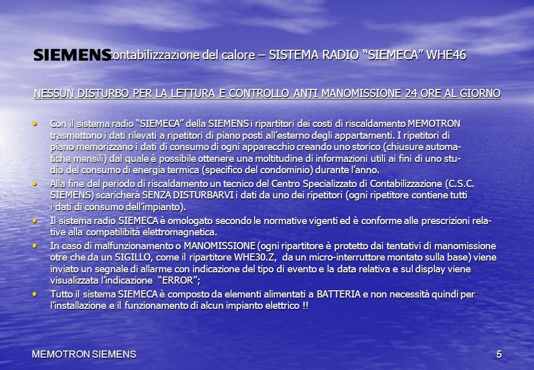 MEMOTRON SIEMENS5 contabilizzazione del calore – SISTEMA RADIO SIEMECA WHE46 contabilizzazione del calore – SISTEMA RADIO SIEMECA WHE46 NESSUN DISTURB
