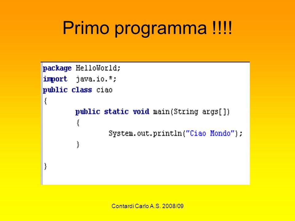 Contardi Carlo A.S. 2008/09 Primo programma !!!!