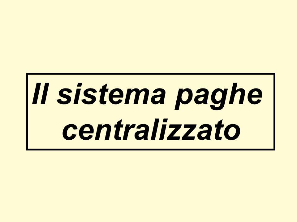 Il sistema paghe centralizzato
