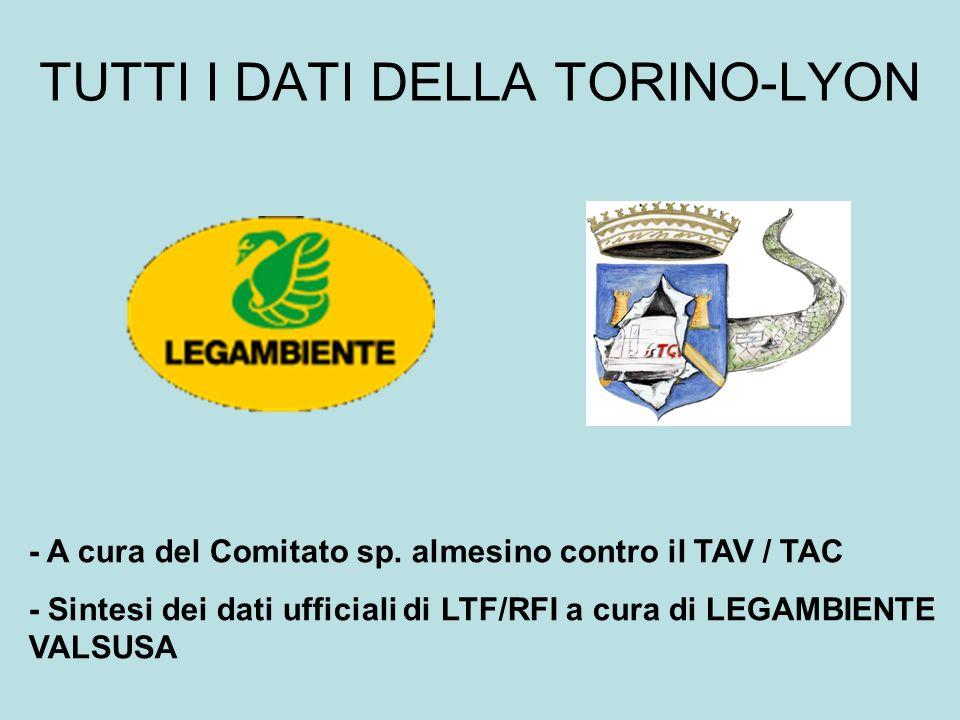 TUTTI I DATI DELLA TORINO-LYON - A cura del Comitato sp.