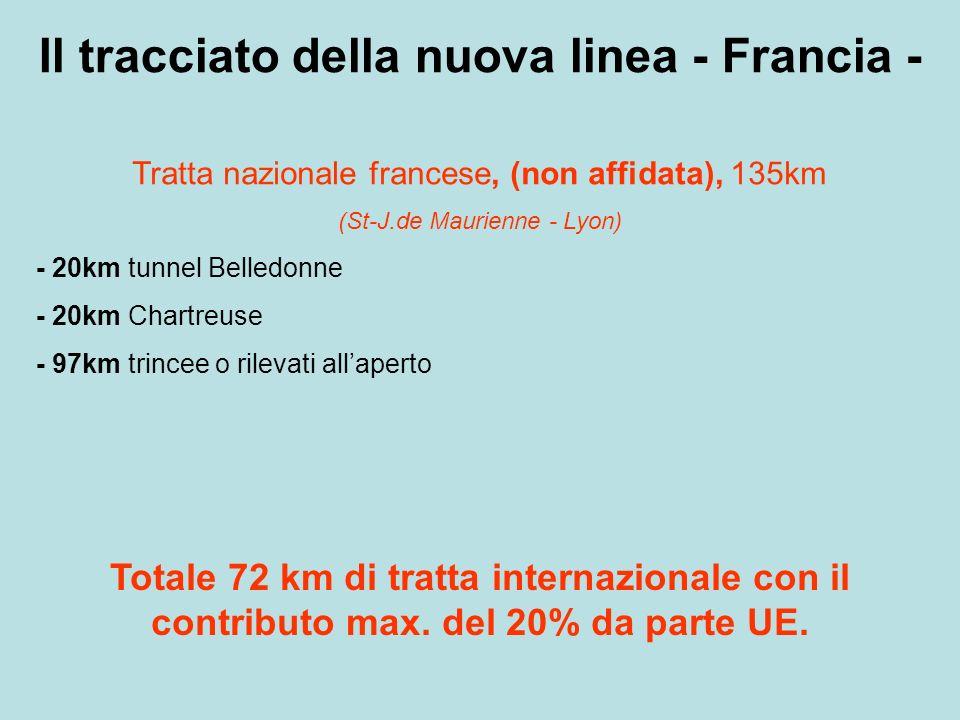 RIEPILOGO Non sono stati considerati circa 50km di gallerie monotubo per discenderie, finestre, sicurezza, etc.