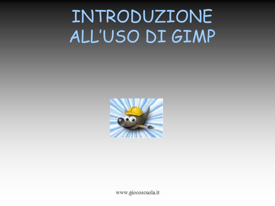 www.giocoscuola.it INTRODUZIONE ALLUSO DI GIMP