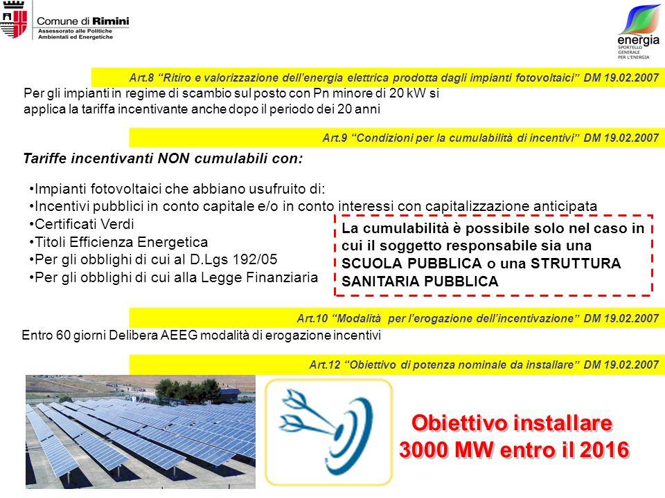 Per gli impianti in regime di scambio sul posto con Pn minore di 20 kW si applica la tariffa incentivante anche dopo il periodo dei 20 anni Impianti f