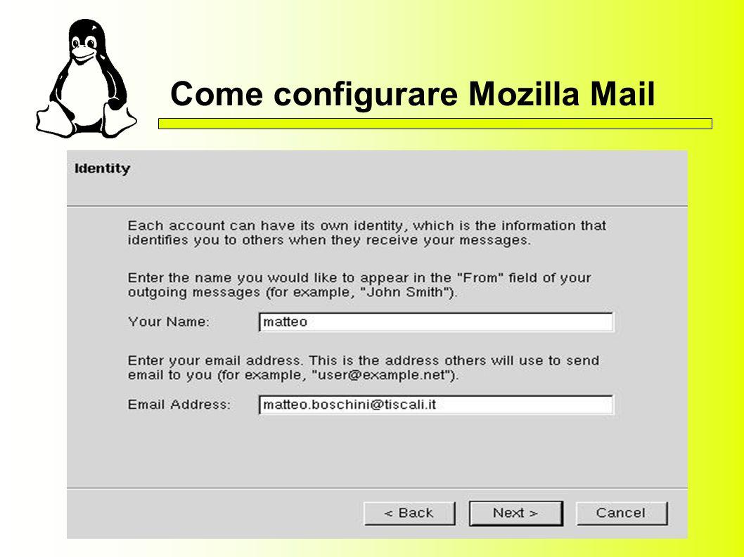Come configurare Mozilla Mail