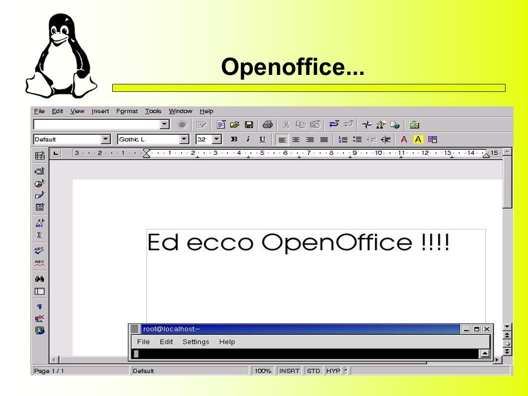 Openoffice...
