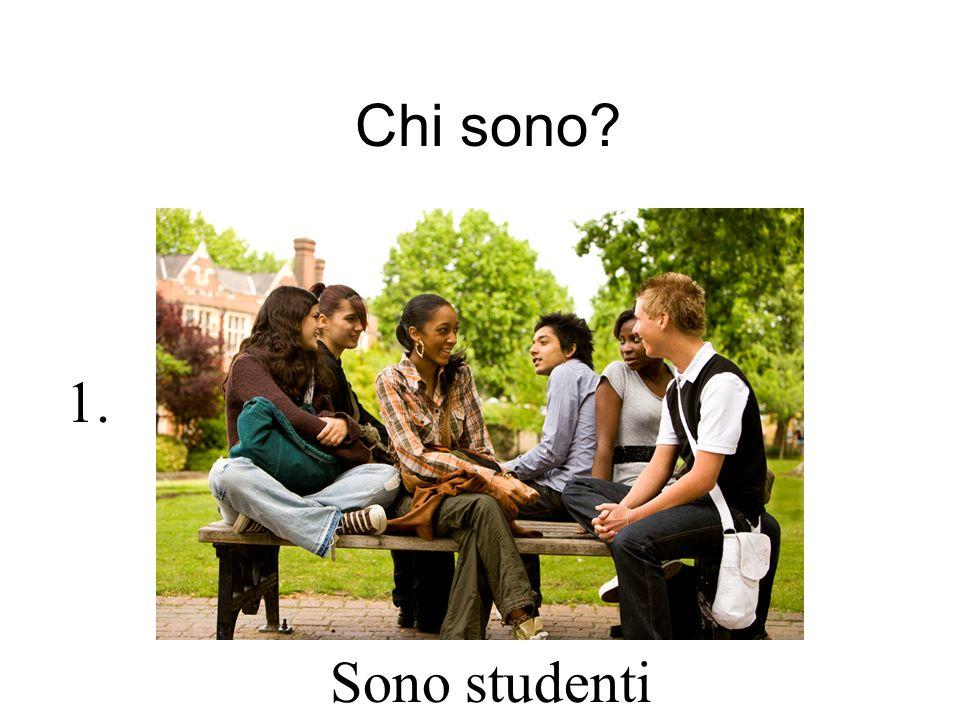 Chi sono? Sono studenti 1.