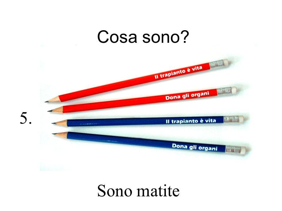 Cosa sono? Sono matite 5.
