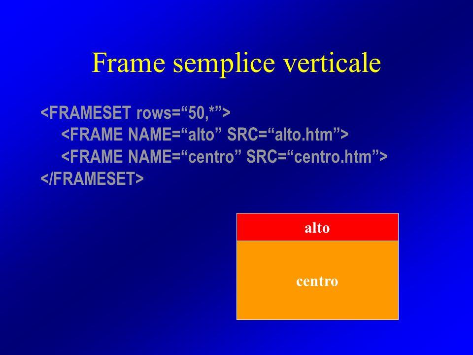 Frame semplice verticale centro alto