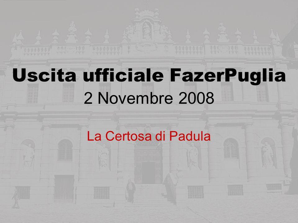 Uscita ufficiale FazerPuglia 2 Novembre 2008 La Certosa di Padula