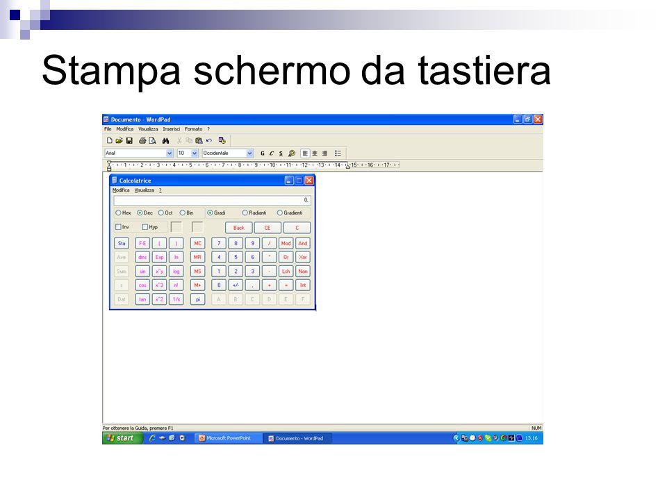 Stampa schermo da tastiera