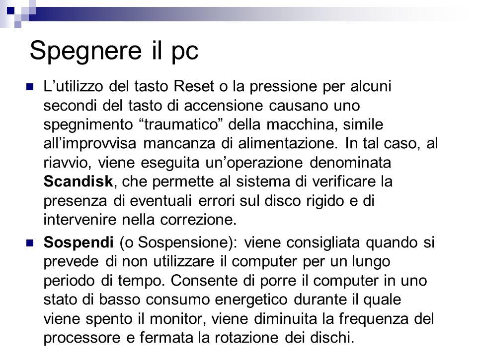 Formattazione dischi rimovibili Affinché si possa salvare qualcosa su un disco esso deve essere formattato.