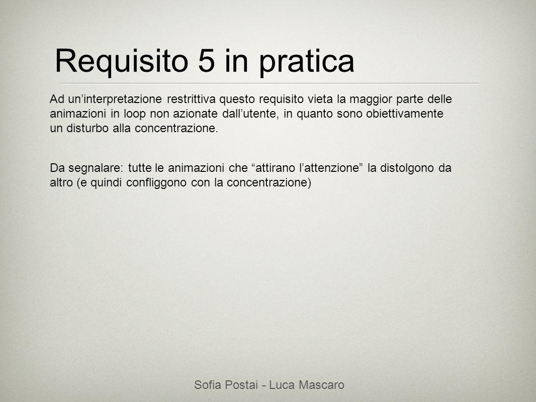 Sofia Postai - Luca Mascaro Sofia Postai (sofia@vocabola.com)sofia@vocabola.com Requisito 5 in pratica Ad uninterpretazione restrittiva questo requisi