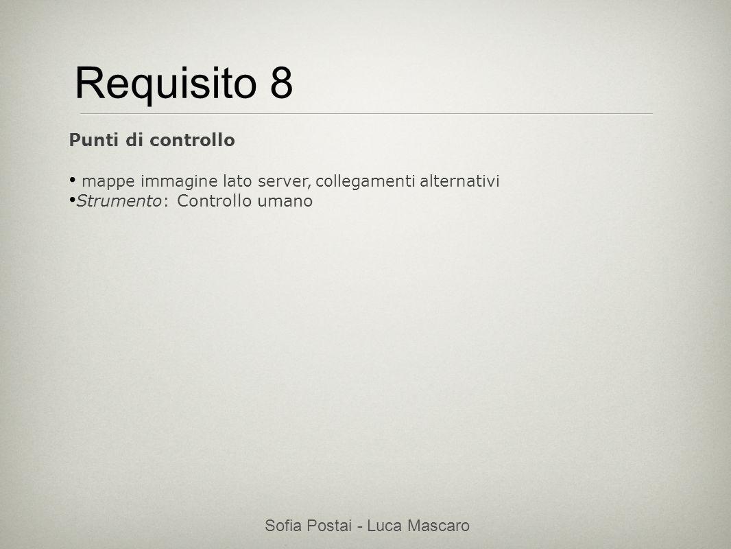 Sofia Postai - Luca Mascaro Sofia Postai (sofia@vocabola.com)sofia@vocabola.com Requisito 8 Punti di controllo mappe immagine lato server, collegament