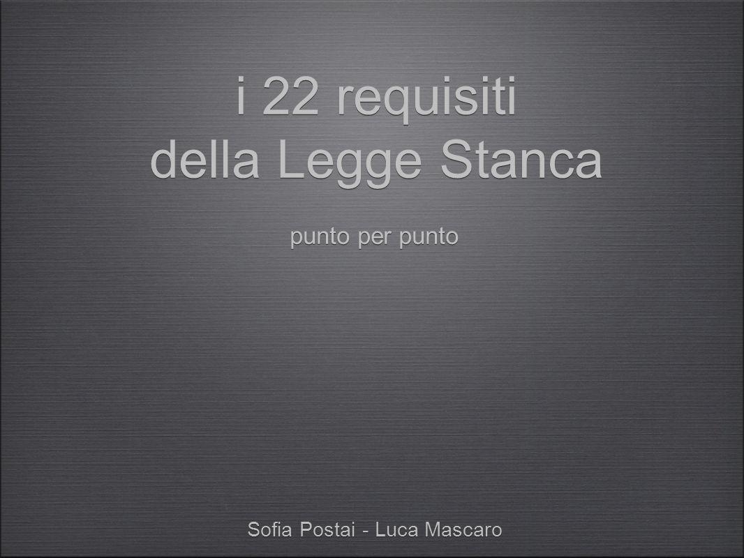 Sofia Postai - Luca Mascaro i 22 requisiti della Legge Stanca punto per punto