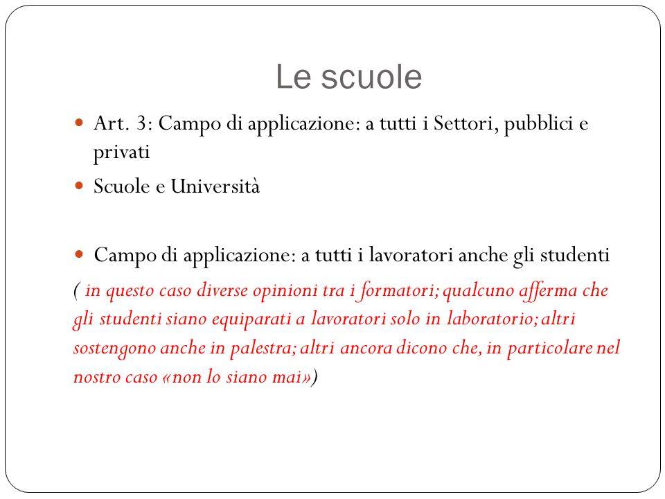 Le scuole Art.
