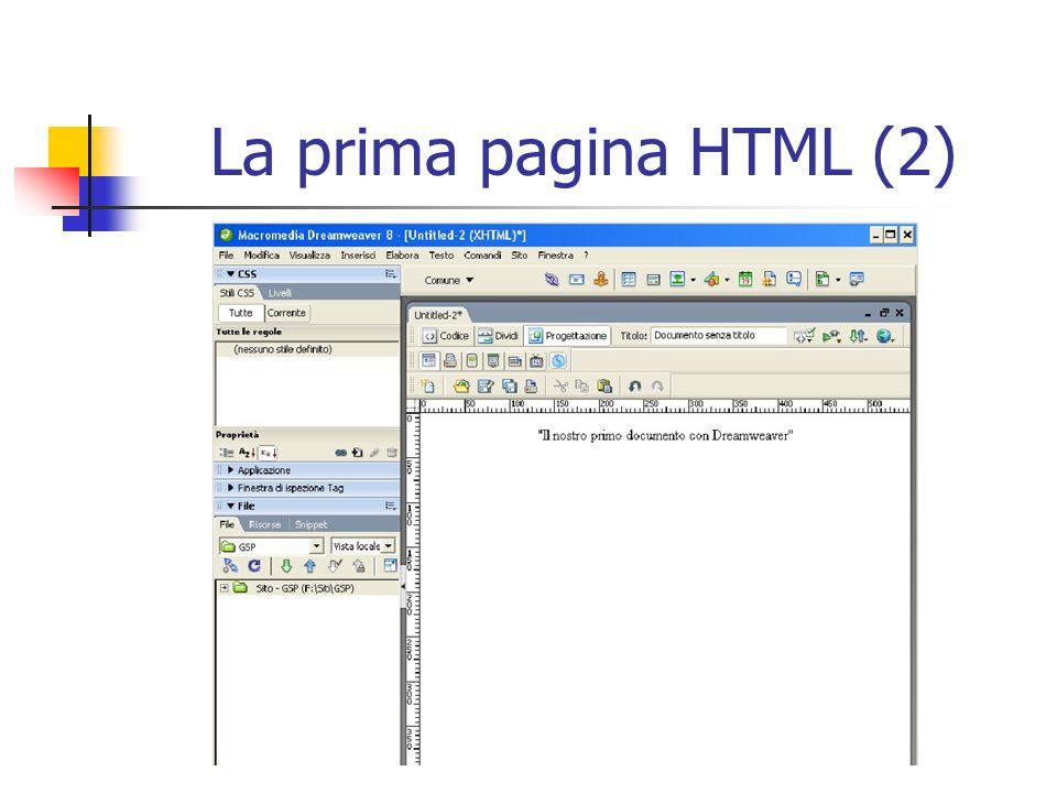 La prima pagina HTML (2)