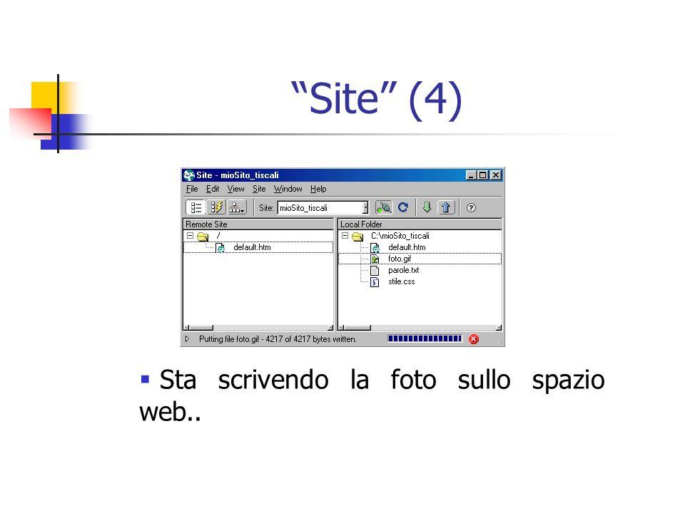 Site (4) Sta scrivendo la foto sullo spazio web..